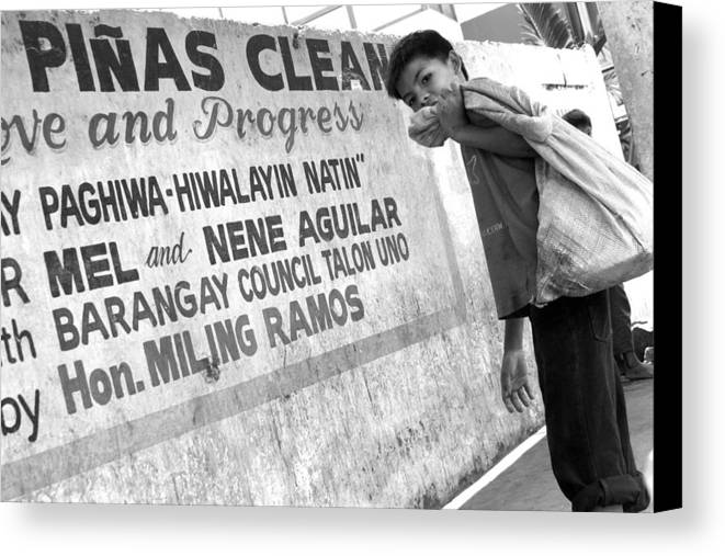 Jez C Self Canvas Print featuring the photograph Keeping It Clean Boss by Jez C Self