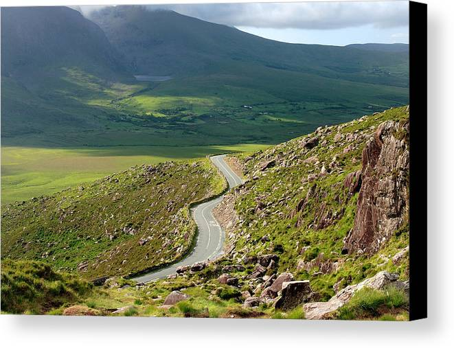 Kerry Canvas Print featuring the photograph Kerry Road Ireland by Pierre Leclerc Photography
