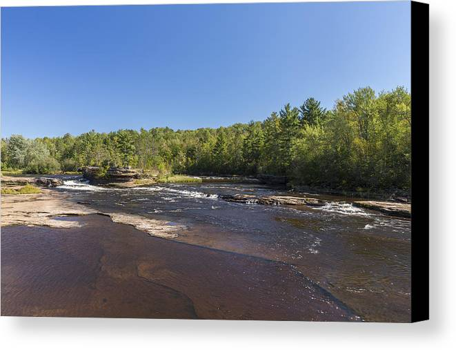 River Canvas Print featuring the photograph Kettle River Big Spring Falls 1 by John Brueske