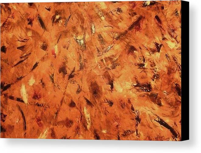 Abstract Canvas Print featuring the painting Knife Technique by Guillermo Mason