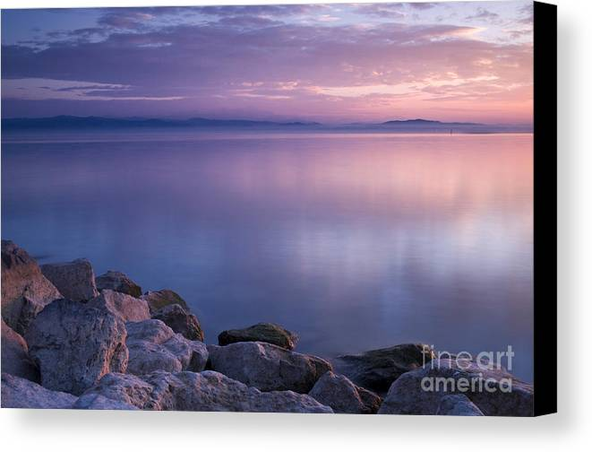 Landscape Canvas Print featuring the photograph Lake Constance by Silke Magino