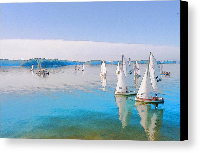 Water Canvas Print featuring the digital art Lake Lanier by Randy Sprout