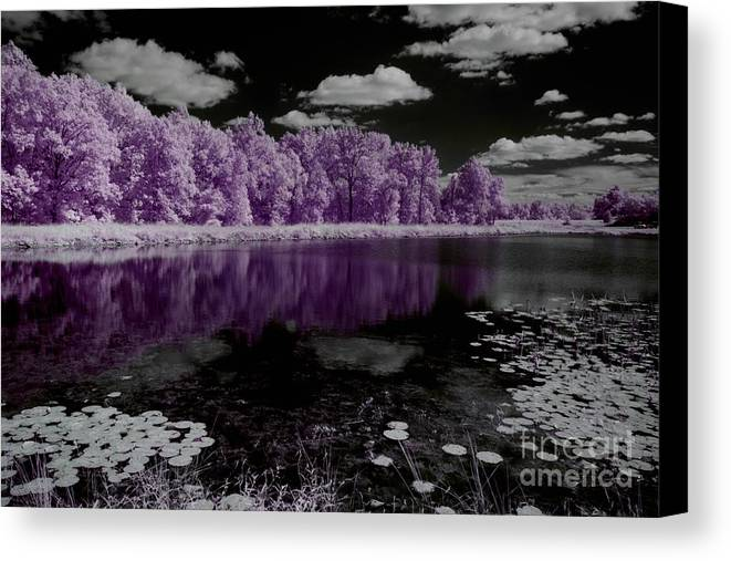 Infrared Photography Canvas Print featuring the photograph Lake On Another Planet by Igor Aleynikov