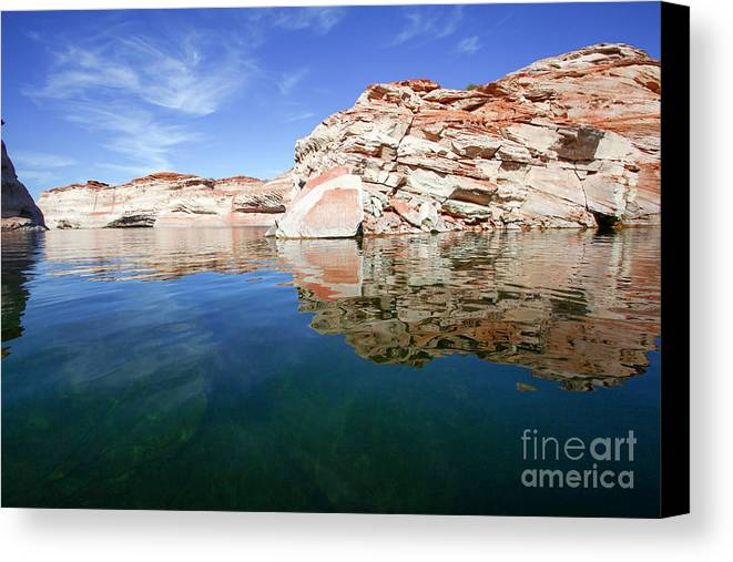 Glen Canyon Canvas Print featuring the photograph Lake Powell And The Glen Canyon by Gal Eitan