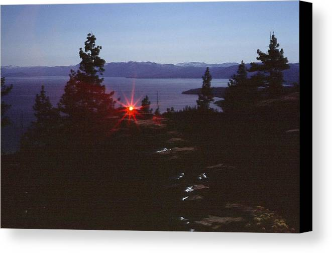 Landscape Canvas Print featuring the photograph Lake Tahoe by Steven Wirth