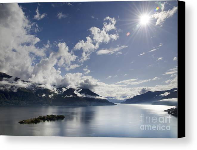 Lake Canvas Print featuring the photograph Lake With Islands by Mats Silvan