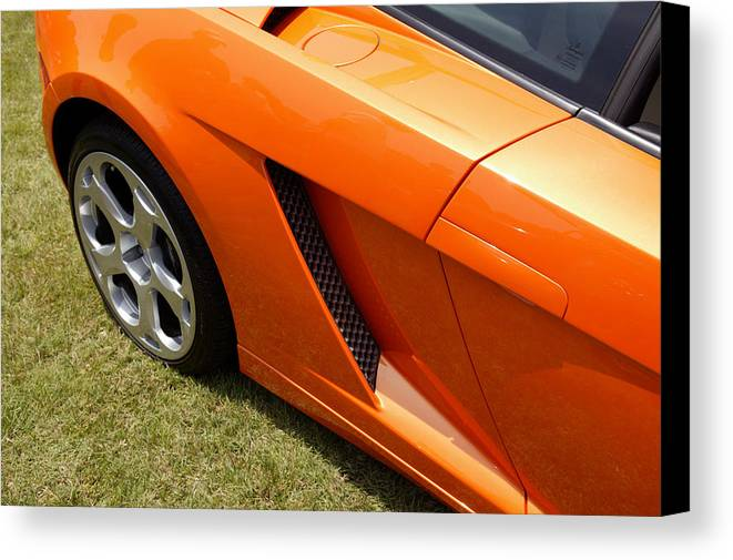 Cars Canvas Print featuring the photograph Lambo by Steve Parrott
