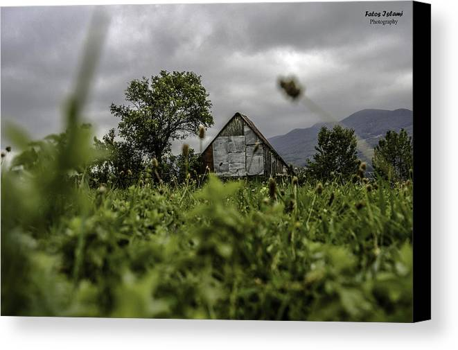 Landscape Canvas Print featuring the photograph Landscape Photo In Nature by Fatos Islami