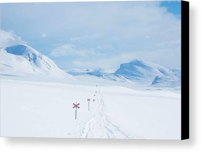 Lapland Canvas Print featuring the photograph Lapland by Elisa Locci
