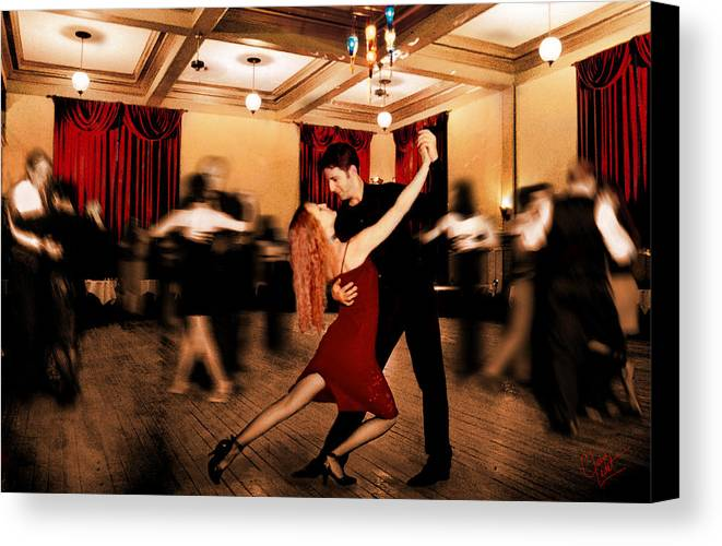 Dancing Canvas Print featuring the photograph Latin Dance by Keith Gondron