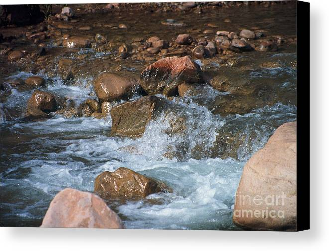 Creek Canvas Print featuring the photograph Laughing Water by Kathy McClure