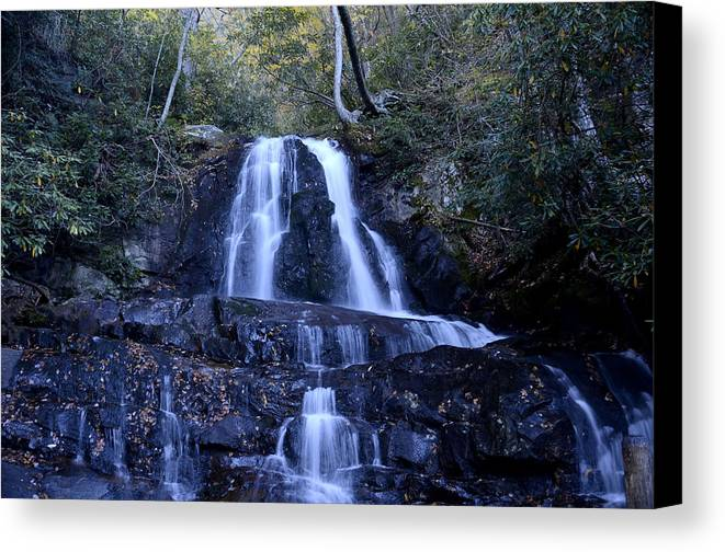 Laurel Canvas Print featuring the photograph Laurel Falls by Charles Bacon Jr