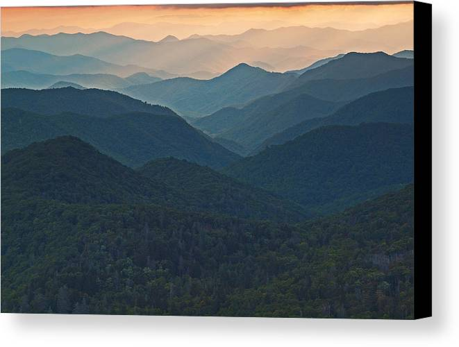 Landscape Canvas Print featuring the photograph Layers 2 by Itai Minovitz