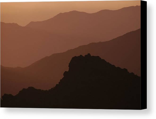 Mountains Canvas Print featuring the photograph Layers San Jacinto Mountains by Michael Ziegler