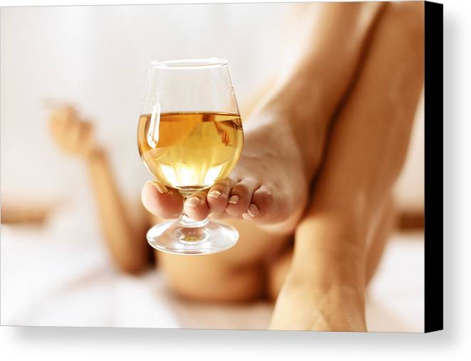 Cognac Canvas Print featuring the photograph Lazy Afternoon With Cognac by Floriana Barbu