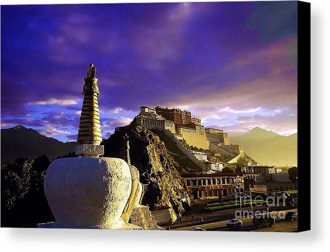 Landscape Canvas Print featuring the photograph Lhasa by Dot Xie