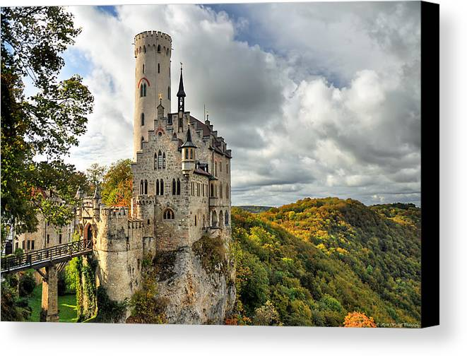 Germany Canvas Print featuring the photograph Lichtenstein Castle by Ryan Wyckoff