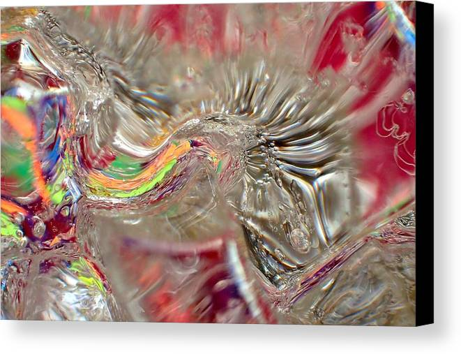 Ice Canvas Print featuring the photograph Light Warp by Alan Buck
