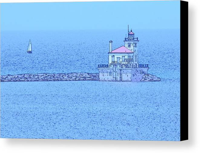 Lighthouse Canvas Print featuring the digital art Lighthouse by Robert Nelson