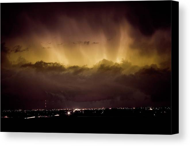 bo Insogna Canvas Print featuring the photograph Lightning Cloud Burst Boulder County Colorado Im29 by James BO Insogna
