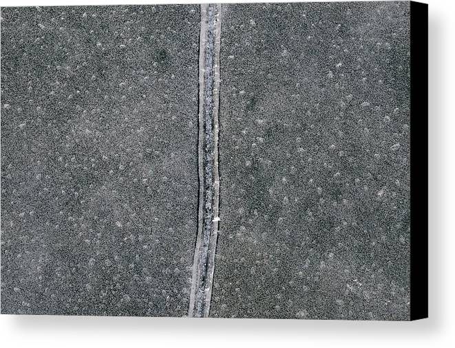 Abstract Canvas Print featuring the photograph Line In The Bubbles by Lyle Crump