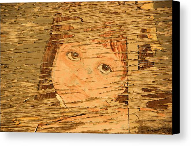 Mural Canvas Print featuring the photograph Little Mountain Girl by Tingy Wende