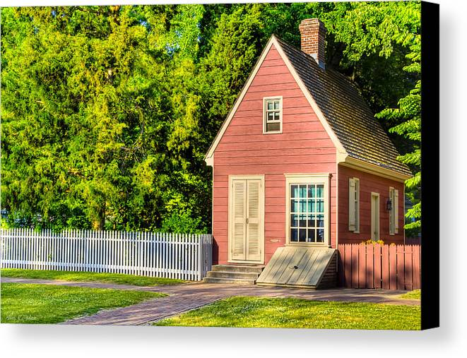 Little Pink Houses Colonial America Canvas Print Canvas Art by