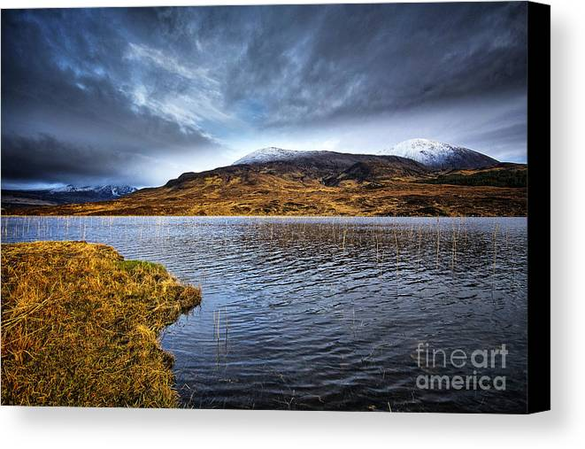 Loch Cill Chrisiod Canvas Print featuring the photograph Loch Cill Chrisiod by Smart Aviation