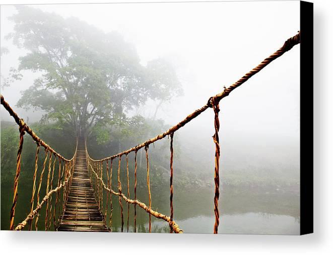Long Rope Bridge Canvas Print / Canvas Art by Skip Nall