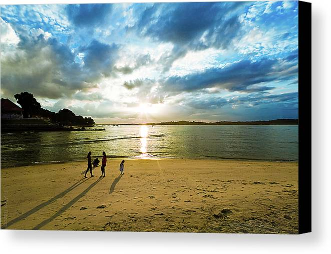 Sunset Canvas Print featuring the photograph Long Shadows by Alex Razon