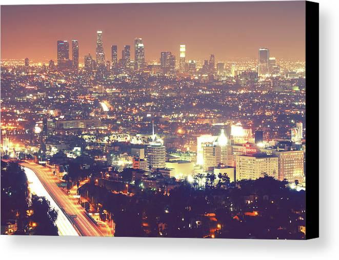 Horizontal Canvas Print featuring the photograph Los Angeles by Dj Murdok Photos