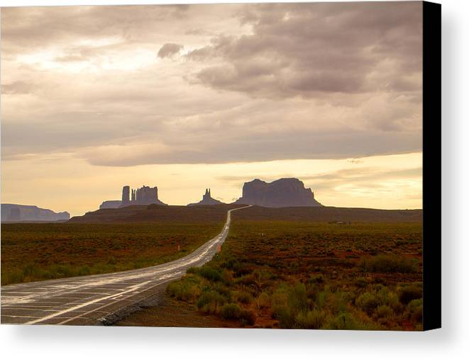 Utah Canvas Print featuring the photograph Lost Highway by Robert Popa