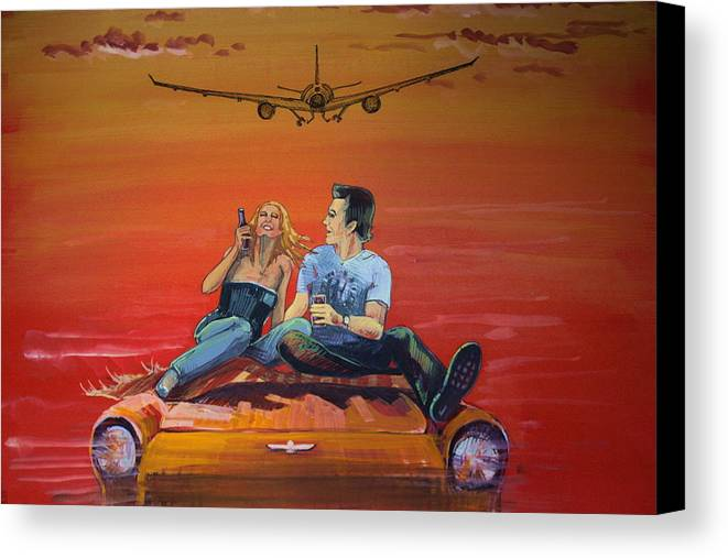 Love Is Canvas Print featuring the painting Love Is by Nadia Gallagher