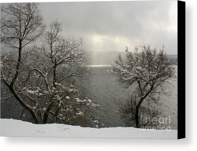 Lake Canvas Print featuring the photograph Luminescence by Idaho Scenic Images Linda Lantzy
