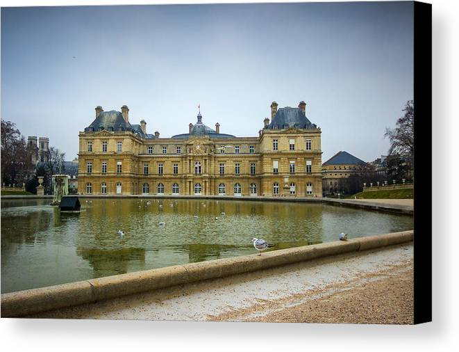 France Canvas Print featuring the photograph Luxembourg Palace by Budi Nur Mukmin