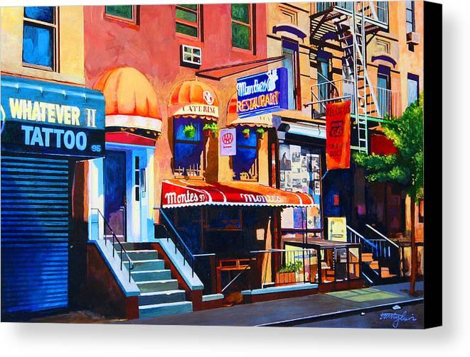 Macdougal Street Canvas Print featuring the painting Macdougal Street by John Tartaglione