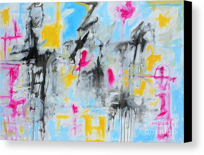 Painting Canvas Print featuring the painting Magenta Abstract II by Michael Henderson