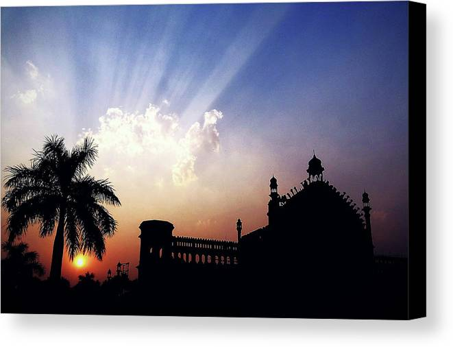 City Canvas Print featuring the photograph Magnificent Sky by Atullya N Srivastava