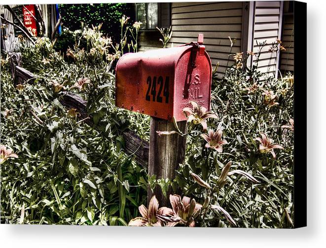 Mailbox Canvas Print featuring the photograph Mailbox Deux by Chris Fleming