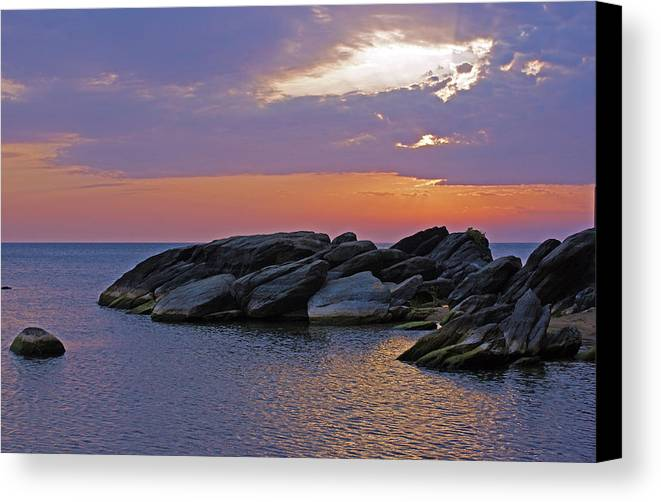Malawi Canvas Print featuring the photograph Malawi Sunrise by Robert Kenny