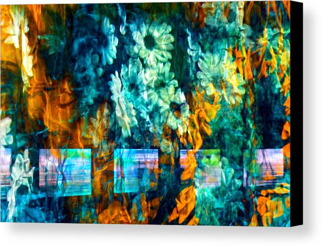 Abstract Canvas Print featuring the photograph Malerische - Picturesque by Linda McRae