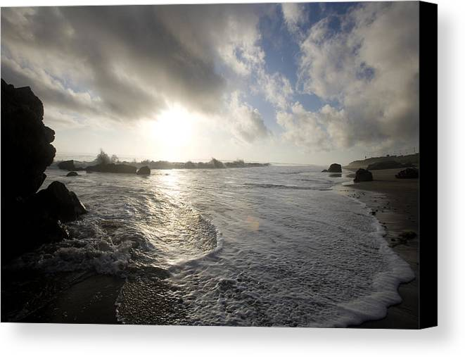 Ocean Canvas Print featuring the photograph Malibu by Brad Rickerby