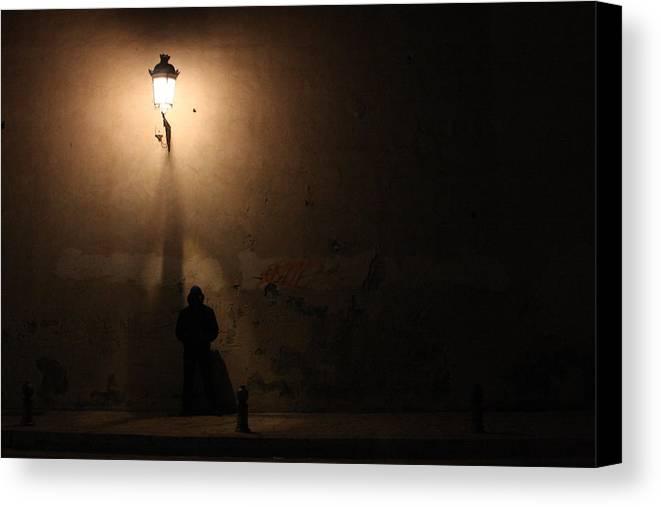 Man Canvas Print featuring the digital art Man Stands Alone by Jason Hochman