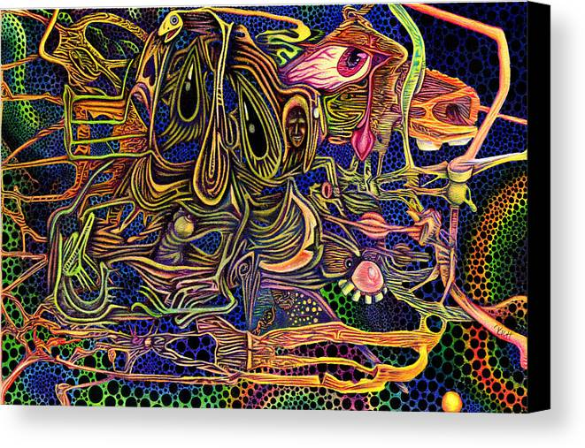 Color Canvas Print featuring the drawing Manic Depression by James Hammons