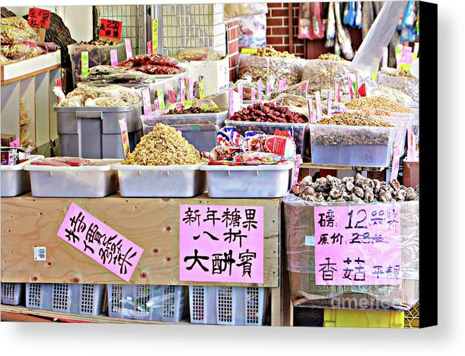 2015 Canvas Print featuring the photograph Market Way by Dorothy Hilde