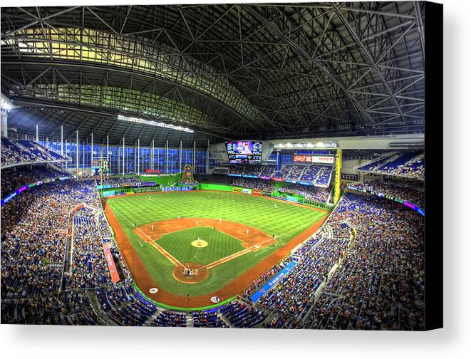 Miami Marlins Canvas Print featuring the photograph Marlins Park by Shawn Everhart