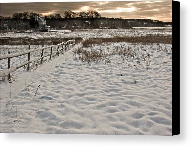 Landscape Canvas Print featuring the photograph Marshland Cape Elizabeth Maine by Filipe N Marques