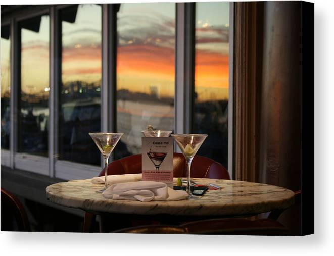 Martini Canvas Print featuring the photograph Martini At Sunset by Joshua Sunday