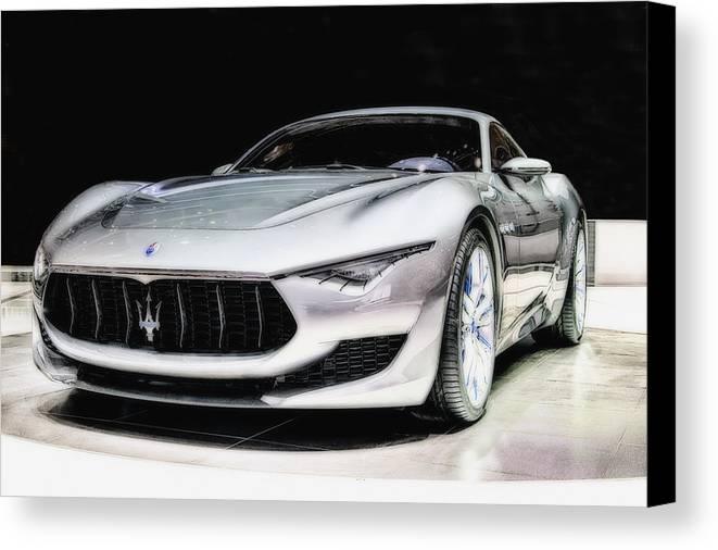 Maserati Canvas Print featuring the photograph Maserati Alfieri Concept 2014 by Duschan Tomic