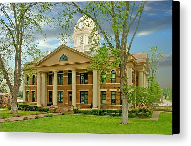 Mason Canvas Print featuring the photograph Mason County Courthouse by Robert Anschutz